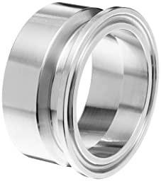 Dixon B19MPX-R200 Stainless Steel 316L Sanitary Fitting, Clamp x Schedule 10 Weld Adapter, 2\