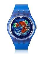 Swatch Reloj de cuarzo Unisex INDIGO LACQUERED SUON101 41 mm