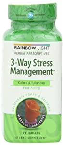 Rainbow Light 3-way Stress Management, 90 Tablets