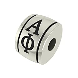 Alpha Phi Barrel Sorority Bead Fits Most Pandora Style Bracelets Including Pandora Chamilia Biagi Zable Troll and More. High Quality Bead in Stock for Immediate Shipping