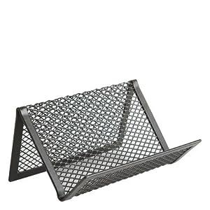 Amazoncom design ideas business card holder mesh black for Mesh business card holder