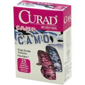 CURAD CAMP CAMO CAMOUFLAGE ELASTIC ADHESIVE BANDAGES
