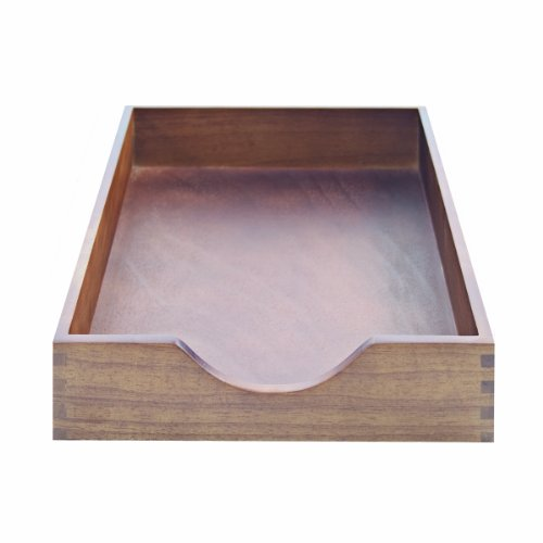 Carver Hardwood Stackable Desk Tray, Letter Size, 13.5 x 11 x 2.75 Inches, Walnut Finish (CW07212) (Wooden Document Tray compare prices)