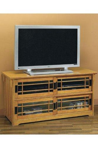 Cheap Craftsman Wide screen Tv Stand W/ Sliding Glass Doors (B001LPEBXU)