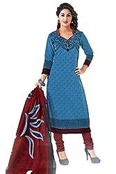 Gugaliya Women's Unstiched Superior Cotton FASHION SALWAR,KAMEEZ & DUPATTA Suit ( P532 )