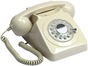 Retro Vintage Style Old Fashioned Telephone - Ivory Cream Colour