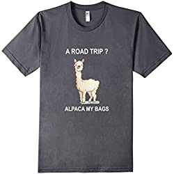 Men's Roadtrip Alpaca My Bags Vacation Travel Tee