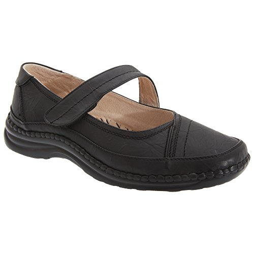 3. Boulevard Womens/Ladies Extra Wide EEE Fitting Mary Jane Shoes