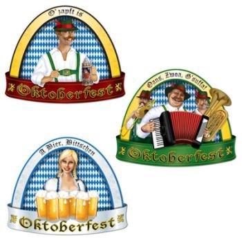 Oktoberfest Cutouts   (3/Pkg) - 1