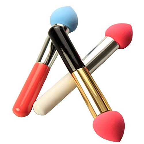 3 pcs Pinceaux Eponge Maquillage Beauty Blender pour Poudre, Réutilisable éponge Beauté Maquillage pour Femme