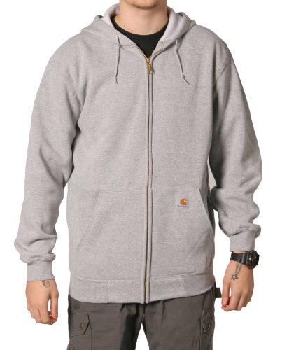 Carhartt K122 Hooded Sweatshirt Grey Mens Hoodie Top