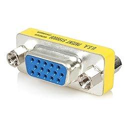 CNCT VGA FF Gender Changer - VGA 15 pin Female to Female - 15 HD Female to Female - D-sub connector - VGA Adapter