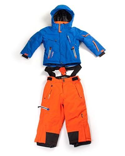 Peak Moutain Tuta Sport Ecosmic [Blu/Arancione]