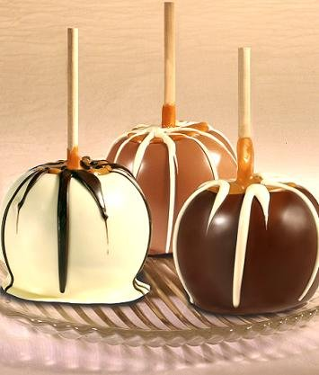 Easter Milk Chocolate Dunked Caramel Apples