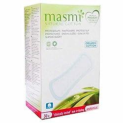 Masmi Chlorine Free Anatomical Organic Cotton Pantyliners 30s