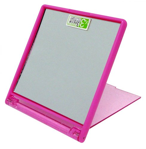 ズームアップ3倍コンパクトミラー ピンク