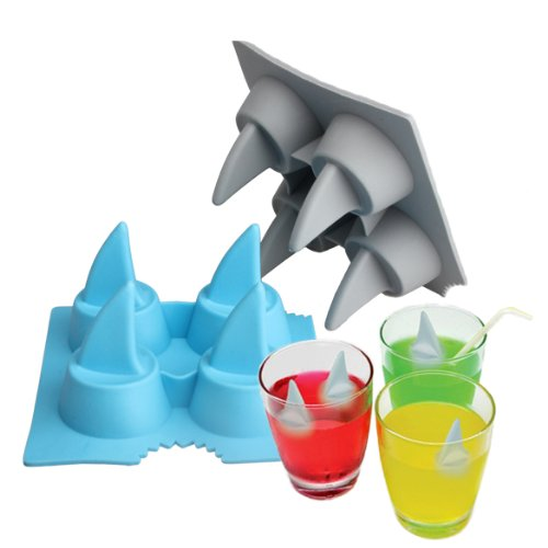 ACE Drink Ice Tray Cool Shark Fin Shape Ice Cube Freeze Mold Ice Maker Mould (Ice Cube Shark compare prices)
