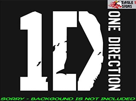 One Direction Logo ワン ダイレクション ビニール デカール ステッカー ロック バンド ホワイト (並行輸入品)