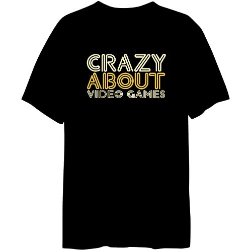 Crazy About Video Games Mens T-shirt