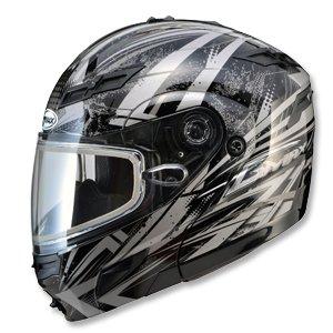 Gmax Gm54S Highmark Snowmobile Helmet Dark Silver Metallic Lg