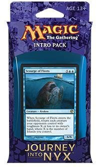 Magic the Gathering (MTG) Journey Into Nyx Intro Pack / Theme Deck - Fates Foreseen - Blue (Includes 2 Booster Packs)