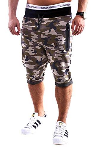 MT Styles Shorts Pantaloncini - pantaloni sportivi corti tuta Camouflage C-681 [cachi, M]