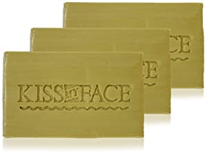 Kiss My Face Naked Pure Olive Oil Bar Soap, 3 Count