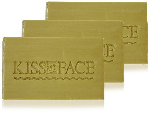 Kiss My Face Naked Pure Olive Oil Bar Soap, 3