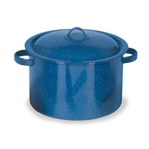 Stansport Steel Enamel Straight Pot (Royal Blue, 6 1/4-Quart)