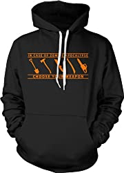 In Case of Zombie Apocalypse Choose Your Weapon Funny Hoodie by Crazy Dog Tshirts
