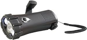 Lunartec Wasserdichte Dynamotaschenlampe mit 3 LEDs, 1 W - Lunartec