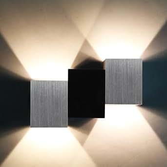 yorbay 2 w moderne led applique murale blanc chaud lampe. Black Bedroom Furniture Sets. Home Design Ideas