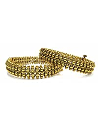 Shingar Jewellery Ksvk Jewels Antique Gold Plated Bangles Set For Women (5993-m-2.6)
