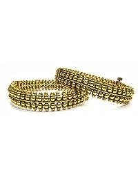 Shingar Jewellery Ksvk Jewels Antique Gold Plated Bangles Set For Women (5993-m-2.6)