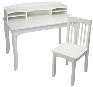 Amazon Com Kidkraft Large Avalon Desk White Toys Amp Games