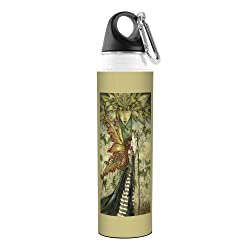 Tree-Free Greetings Amy Brown Fantasy Artful Traveler Stainless Water Bottle, 18-Ounce, The Green Woman Fairy
