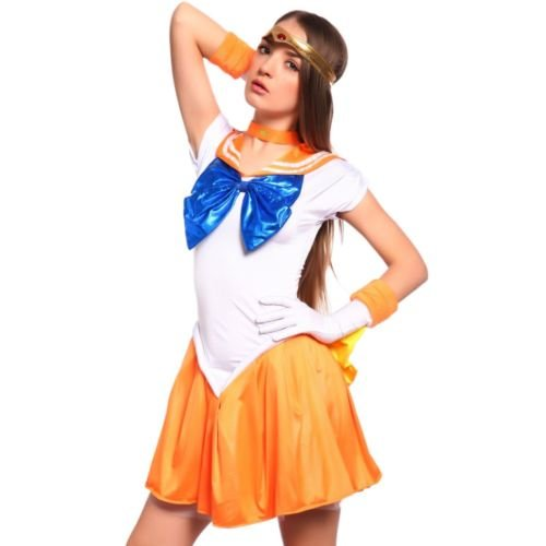 Sailor Moon: Venus Serena Costume Dress Complete Set for Cosplay Halloween Party (Sailor Moon Jacks compare prices)