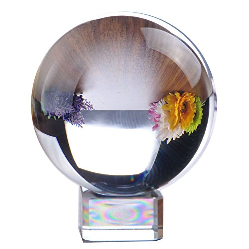 Meditation Ball Globe 80 Mm, Clear, Free Crystal Stand