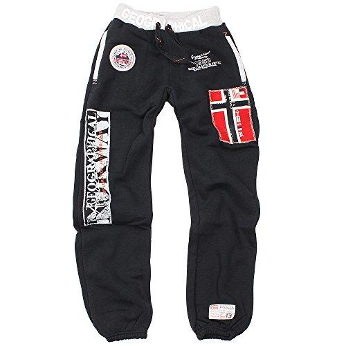 GEOGRAPHICAL NORWAY Myer pantaloni da jogging da uomo nero m