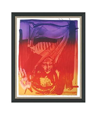 """Jasper Johns """"Figure 7"""" (Printed In 1989) Framed Poster"""
