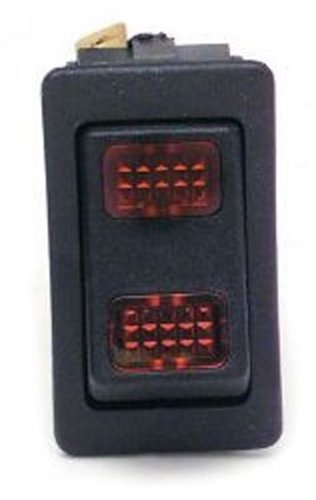 Painless 80401 Red Lighted Performance Replacement Rocker Switch
