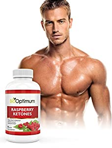 Premium Raspberry Ketones - 100 Pure Maximum Formula For Fat Burning Weight Loss - Appetite Suppressant - Safe Natural Weight Loss Supplement - Gluten Free - 60 Capsules 500mg from Bio Optimum