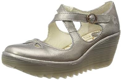 Fly London Women's Yate Lead Wedges Heels P500275024 3 UK