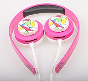 VersionTech Comfortable 3.5mm Stereo Over-Ear Children Kids Headphone Headset Headband with Volume Control For PC Computer MP3 MP4 iPod Touch iPad Air iPad Mini iPhone 5S Samsung Galaxy S5 S4 Note 4 - Blue + Pink
