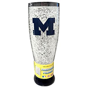 Buy NCAA Michigan Wolverines 16-Ounce Crystal Freezer Pilsner by Duck House