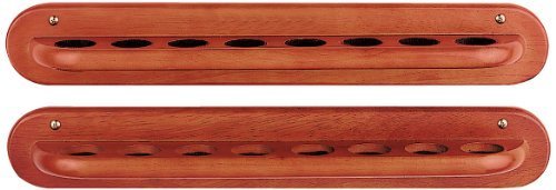 HJ Scott CR2 Two Piece 8-Cue Wall Mount Billiard Cue Rack