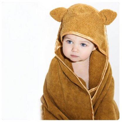 Imagen de Bebé Niño Woombie algodón orgánico toalla con capucha Cuddle (0-3 años, Mocha)