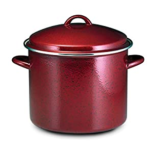 12-quart Red Speckle Covered Stockpot Model#51654