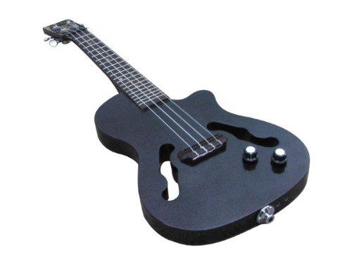 cheap eleuke cutaway jazz concert mp3 solid body electric ukulele metallic blackeleukeccj100. Black Bedroom Furniture Sets. Home Design Ideas