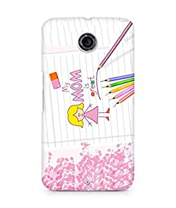 Amez designer printed 3d premium high quality back case cover for Motorola Nexus 6 (Mother?s Day)